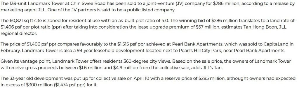 The Reef At King's Dock deal $286million